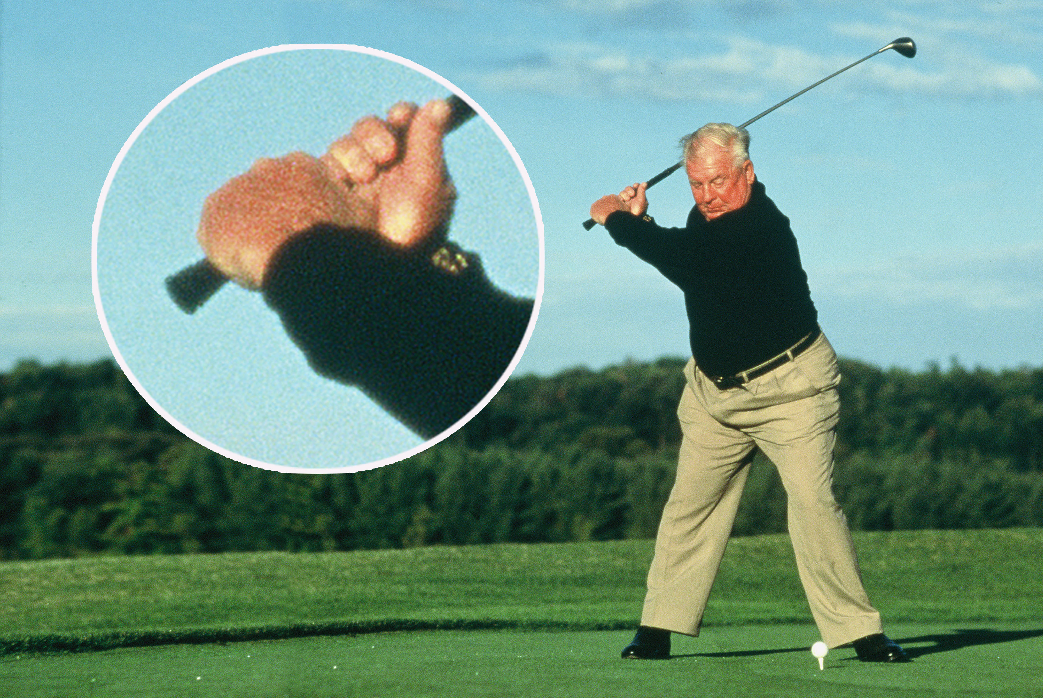 Moe Norman Hand Position at Top of backswing