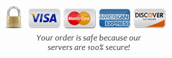 Secure Order Processing - 24 hours a Day, 7 Days a Week. All Major Credit Cards Accepted.
